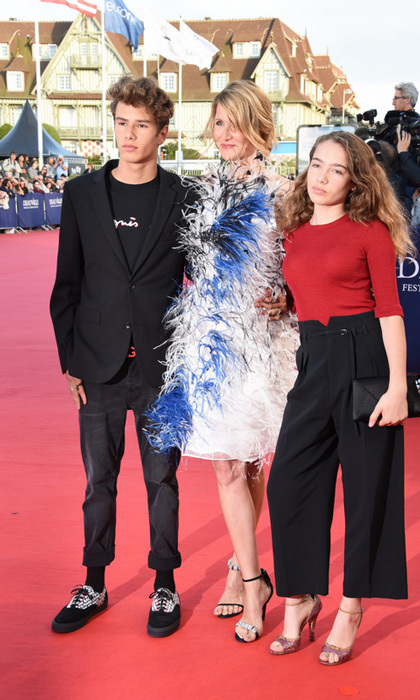 Laura Dern was joined by her kids Ellery, 16, and 12-year-old Jaya at the Deauville American Film Festival in France on September 1.