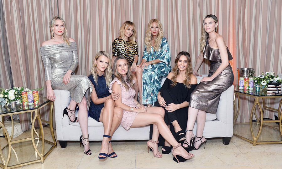 Rachel Zoe had all her ladies (L to R: Erin Foster, Kelly Sawyer, Jennifer Meyer, Nicole Richie, Jessica Alba and Sara Foster) in one place for her Spring 2018 presentation at the Sunset Tower hotel on September 5.