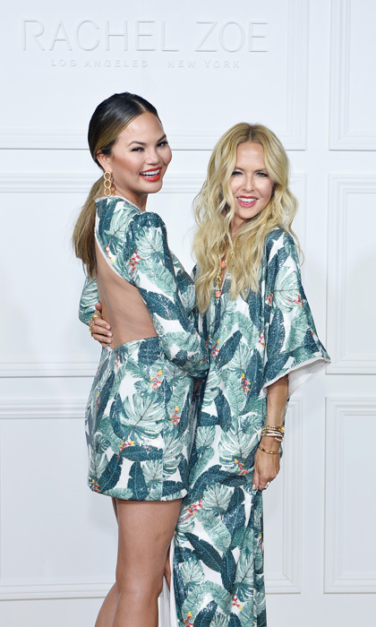 The long and short of it was that both Chrissy Teigen and Rachel Zoe looked fabulous in one of the designer's prints at her Spring 2018 presentation dinner at Sunset Tower where guests sipped Belvedere vodka cocktails. 