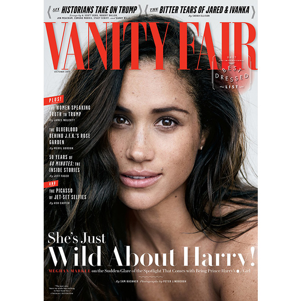 "To the excitement of fans, Meghan gave her first interview discussing her boyfriend Prince Harry for the October issue of Vanity Fair, which was released in September. Speaking about their relationship, the <i>Suits</i> star said, ""We're two people who are really happy and in love. We were very quietly dating for about six months before it became news, and I was working during that whole time, and the only thing that changed was people's perception. Nothing about me changed. I'm still the same person that I am, and I've never defined myself by my relationship.""