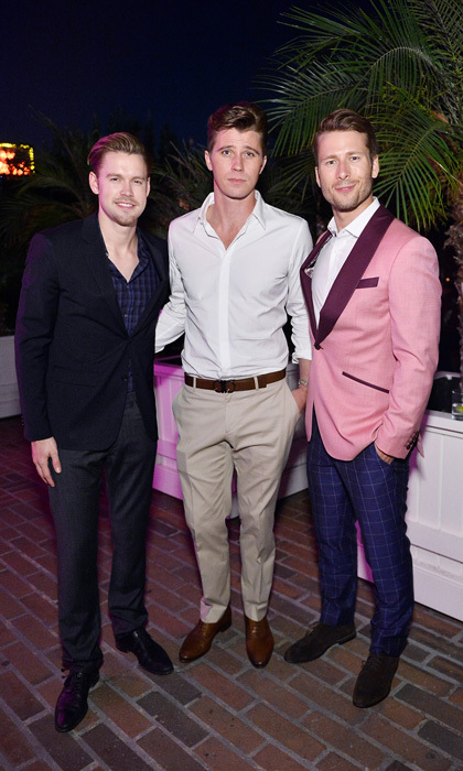 Chord Overstreet, Garrett Hedlund and Glen Powell were the three amigos at the Esquire's September Issue  'Mavericks of Style' party presented by Hugo Boss at the Chateau Marmont in West Hollywood.