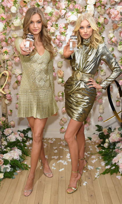 Spritzed with love! Josephine Skriver and Elsa Hosk showed off the all-new Victoria's Secret Love fragrance in NYC on September 7.