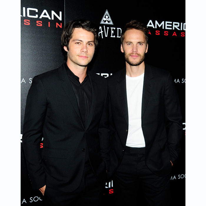 Dylan O'Brien and Taylor Kitsch killed us with their smoldering good looks at the NYC premiere of <i>American Assassin</i> hosted by The Cinema Society and SAVED Wines at The Tuck Room on September 6.