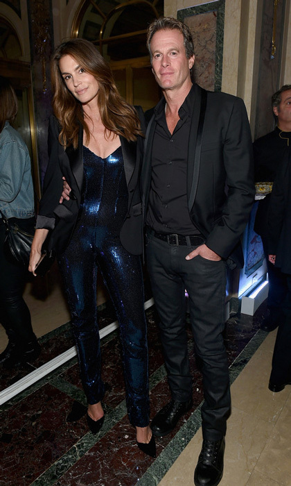 Cindy Crawford sparkled alongside husband Rande Gerber at the Moet-sponsored party.