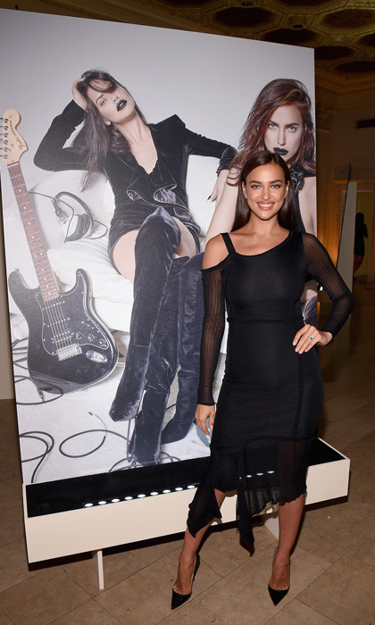 New mom Irina Shayk was all smiles in front of her Icons shoot.
