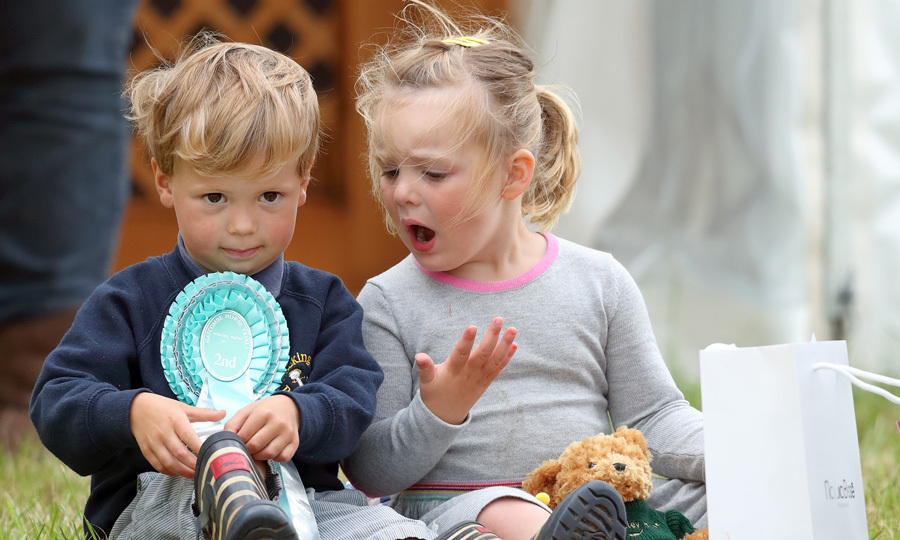 The three-year-old and Charlie had an adorable playdate throughout the day.