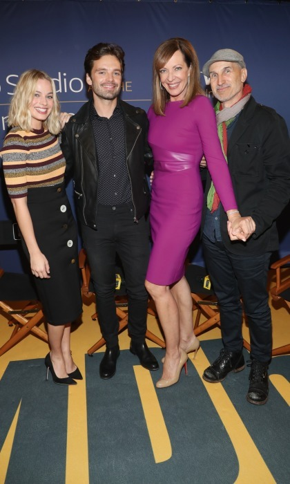 Margot Robbie, Sebastian Stan, Allison Janney and their <i>I, Tonya</i> director Chraig Gillespie stopped by the IMDb Studio, hosted by Visa Infinite Lounge, at Bisha Hotel & Residences on September 8. 