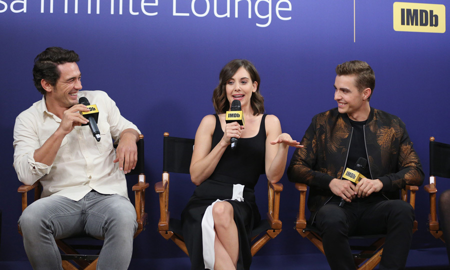 James Franco, Dave Franco and new wife Allison Brie were one big happy family during their <i>The Disaster Artist</i> panel at The IMDb Studio.