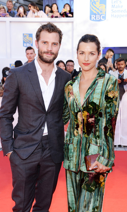 Jamie Dornan and his wife Amelia Warner were quite the dashing duo on the <i>Mary Shelley</i> carpet.