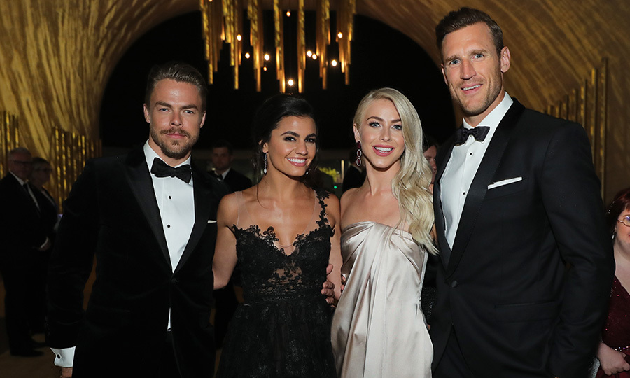 At the Creative Arts Ball, Derek's date was girlfriend Hayley Erbert, while newlywed Julianne had husband of two months Brooks Laich on her arm.