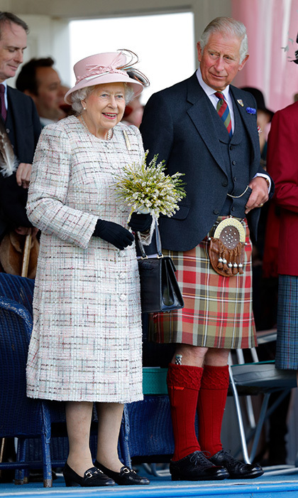 Tartan was the name of the game for  Prince Charles, who wore a kilt as he joined mom Queen Elizabeth at the 2017 Braemar Gathering in Braemar, Scotland on September 2.