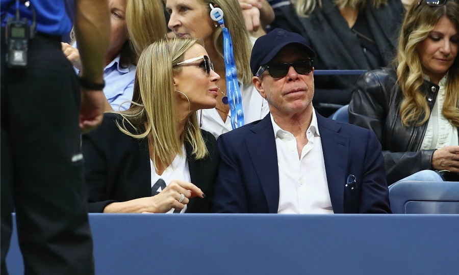 Tommy Hilfiger took a break from fashion week to take in a tennis match with his wife Dee Ocleppo.