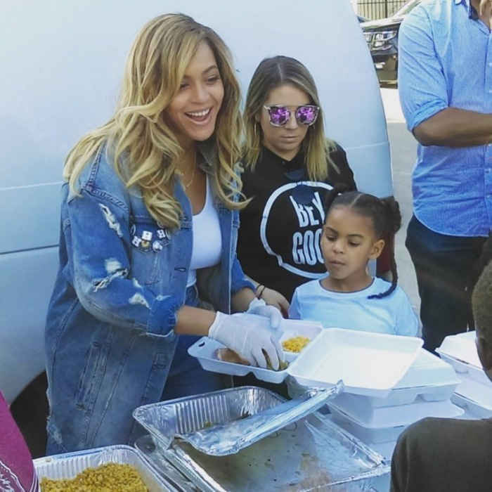 In a remarkable act of kindness, Beyoncé returned to her hometown of Houston, Texas ready to lend a hand. The 36-year-old superstar touched down in the state, with her daughter Blue Ivy and mom Tina Knowles, on Friday. Driven by the intention of helping those devastated by Hurricane Harvey, the family went to their longtime place of worship, St. John's United Methodist Church, with open hearts and teary eyes.