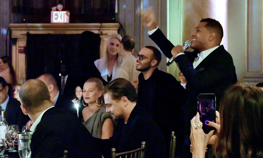 Leonardo DiCaprio and ex Toni Garrn attended the Unitas Gala to combat human trafficking at Capitale in NYC on September 12. Though the two were at the same table, they sat across from each other and mingled with other guests throughout the evening including Irina Shayk. 