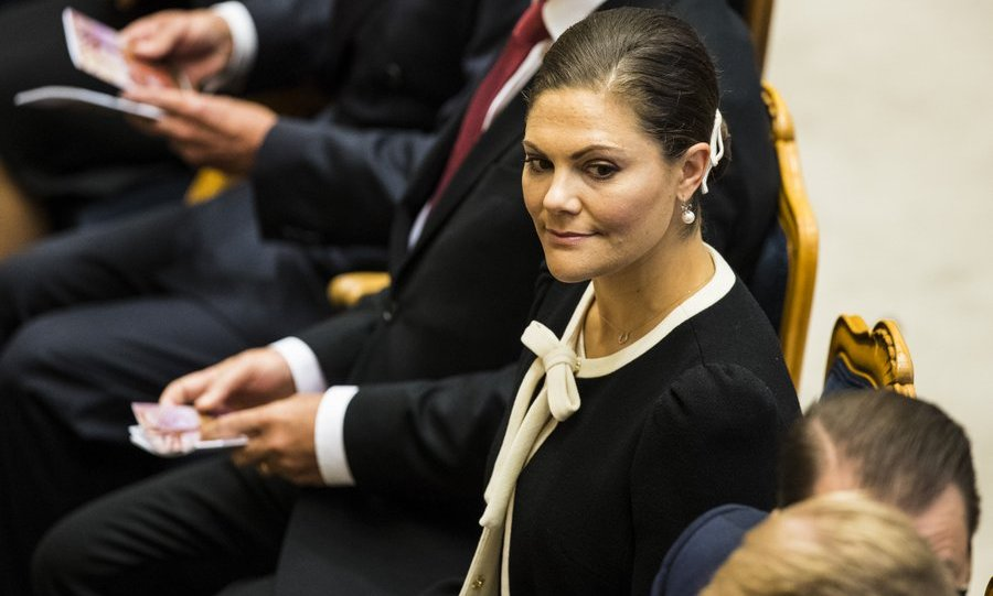 Crown Princess Victoria of Sweden attended the opening of the Parliamentary session on September 12 in Stockholm.