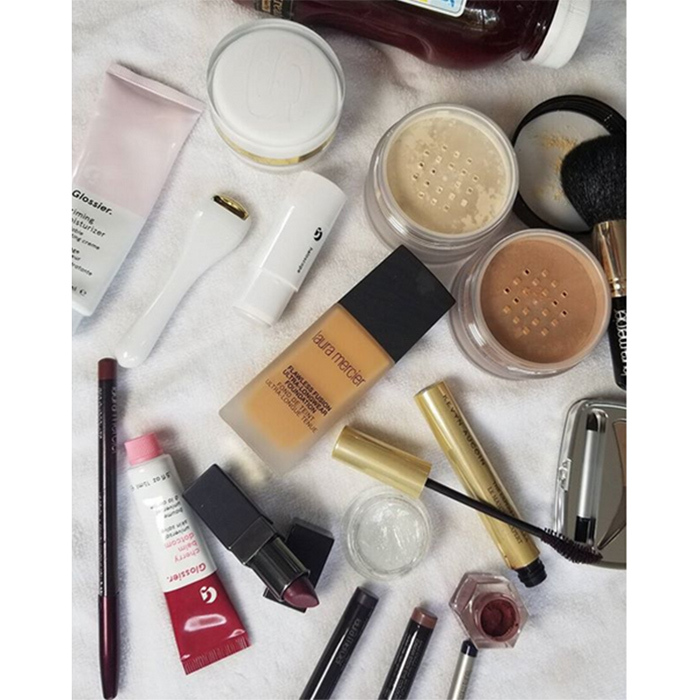 MUA at work! Pati shared this picture of the products she used on Instagram.