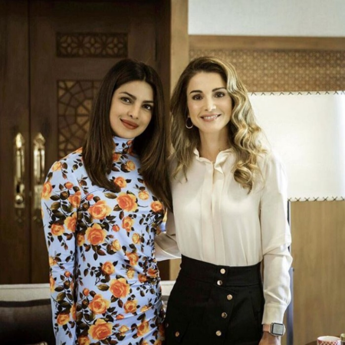 "Royalty meets Hollywood! Priyanka Chopra met with Queen Rania of Jordan in Amman to chat about the Syrian refugee crisis. The <i>Quantico</i> actress opened up about her royal meeting on social media, writing: ""Queen Rania is a true inspiration. Her tireless efforts to help those in need comes straight from the heart and has always been consistent.. as a UNICEF Eminent Advocate for Children, she leads by example as is so evident by the countless programmes for children that she is involved in. She does this all with such grace and calm."" 