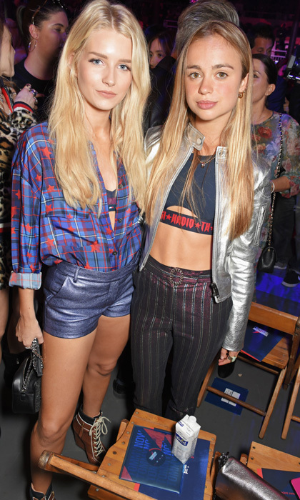 Lottie Moss and Lady Amelia Windsor hung out together on the front row at Gigi Hadid x Tommy Hilfiger show on September 19.