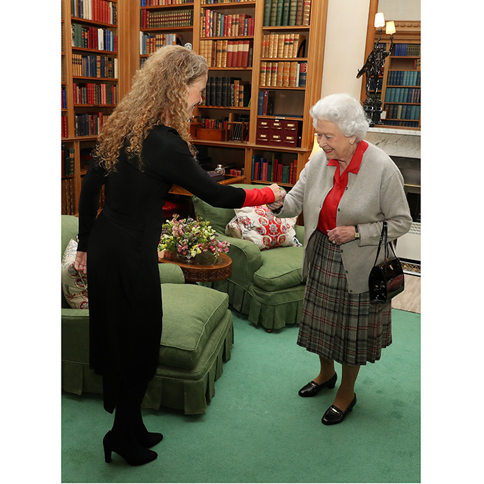 Currently residing at her Scottish estate, Queen Elizabeth was cozy in a kilt and cardigan as she met with Canadian Governor General Designate Julie Payette. The private audience took place in the Queen's library at Balmoral Castle on September 20. 
