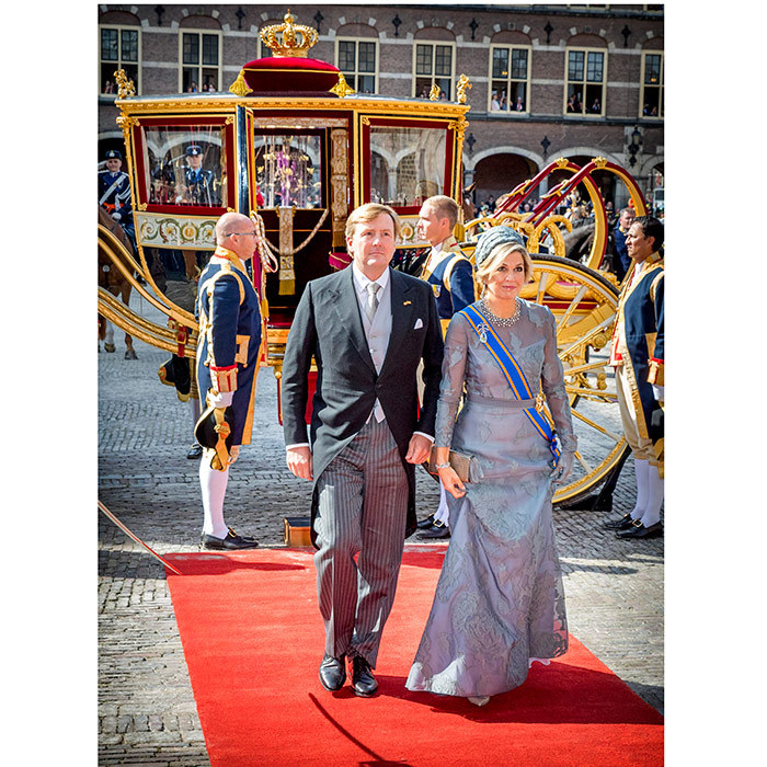 King Willem-Alexander and Queen Maxima of the Netherlands looked like a fairytale royal couple as they stepped out of their Glass Coach on September 19 in The Hague.