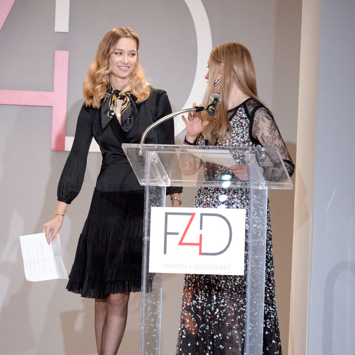 Monaco's Beatrice Borromeo spoke on stage during the seventh annual First Ladies Luncheon hosted by the UN Fashion 4 Development at the Pierre Hotel in New York.