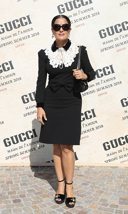 Salma Hayek also had it made in the shades at Gucci. 