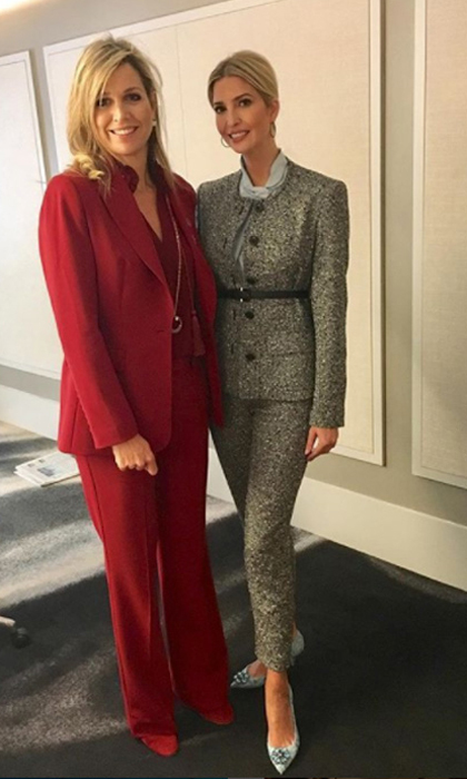 "Ivanka Trump and Queen Maxima reunited in New York City! The first daughter took to her Instagram to share a photo from her royal meeting, which she captioned: ""Financial inclusion is key to empowering women globally. Thank you Queen Maxima for your tireless commitment to this critical misson. #UNGA #USAatUNGA.""