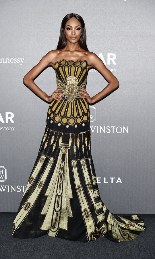Jourdan Dunn turned out in style to raise awareness and funds for the fight against HIV at the amfAR Gala Milano fundraiser on September 21.