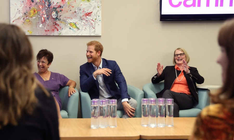 Harry had met with healthcare workers at Canada's largest mental health and addiction hospital to discuss their work in research and technology, with a focus on young people at the Centre for Addiction and Mental Health. 