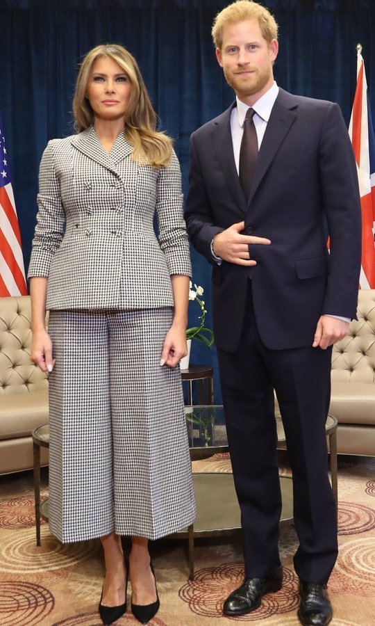 The British royal also met with First Lady Melania Trump as she led the USA team delegation ahead of the Invictus Games start in the evening.