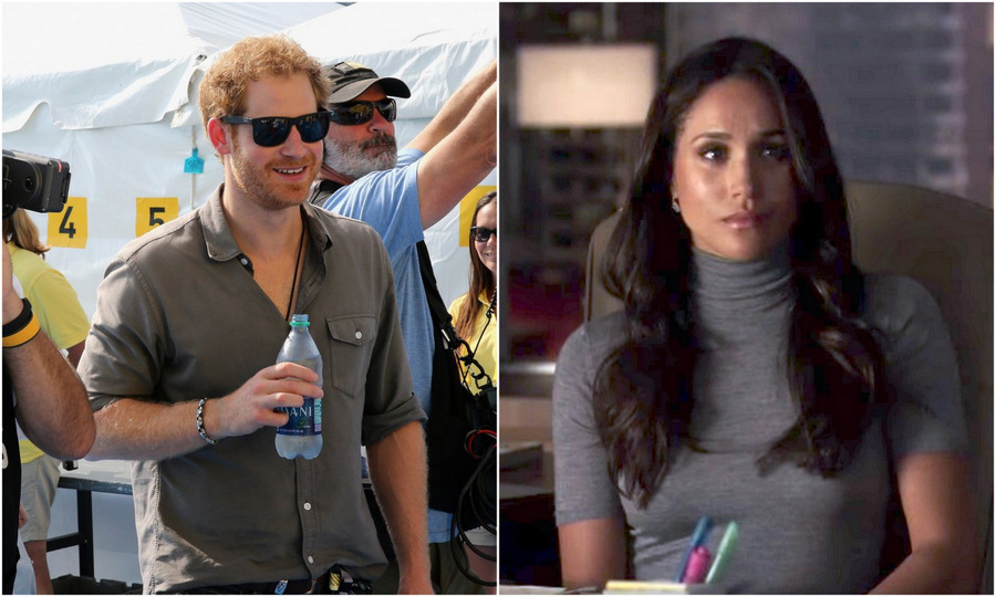 Prince Harry Visits Girlfriend Meghan Markle On The Set Of