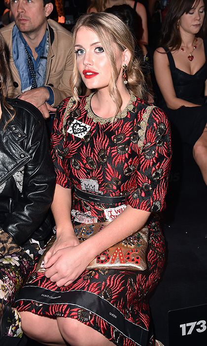 Princess Diana's niece then took a seat in the front row at the label's September 24 presentation.