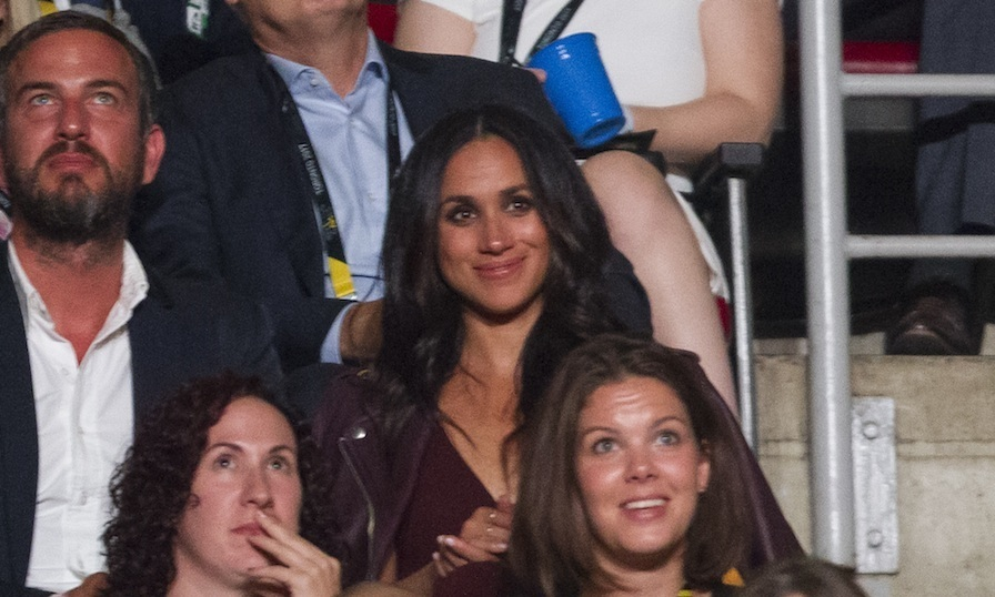 Meghan Markle made her royal debut at the opening ceremony. She was seated in the section over from her boyfriend with Markus Anderson. 