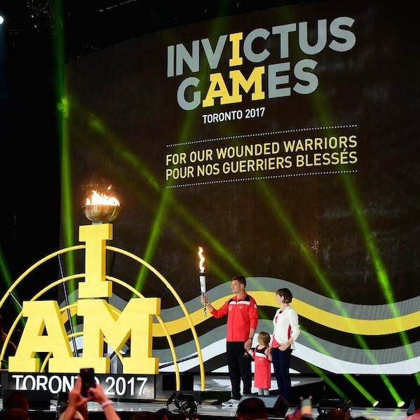 The Invictus Games flame as it arrived in Toronto. 