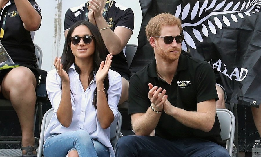 The much-anticipated joint outing comes after weeks of speculation that the 33-year-old would ask Meghan to join him at the sports tournament.