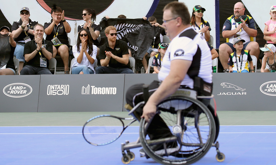 The royal and actress, who were spotted laughing and beaming from the sidelines, attended the wheelchair tennis match together.