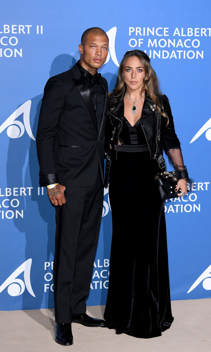 Jeremy Meeks and Chloe Green made their red carpet debut together at the Monte-Carlo Gala for the Global Ocean in Monaco.