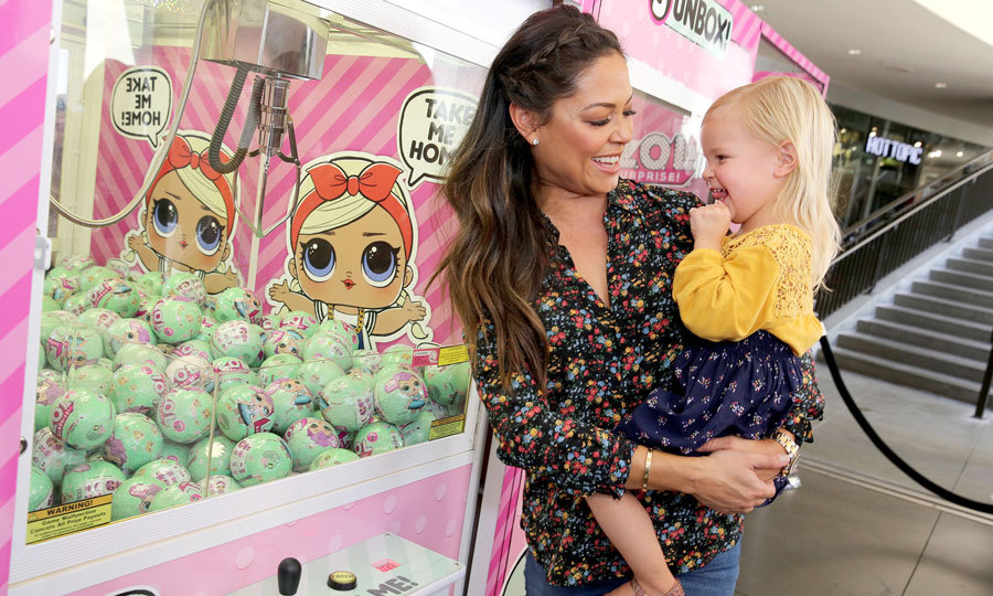 Vanessa Lachey had a fun girls' day out with her and Nick's daughter Brooklyn at the L.O.L. Surprise Unboxing Booth in L.A. in September 2017.
