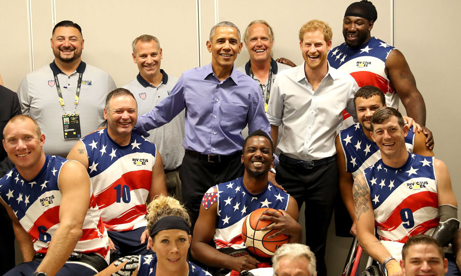 On September 29, Prince Harry reunited with President Obama on the penultimate day of the Invictus Games ahead of the Wheelchair Basketball competition with Team USA.