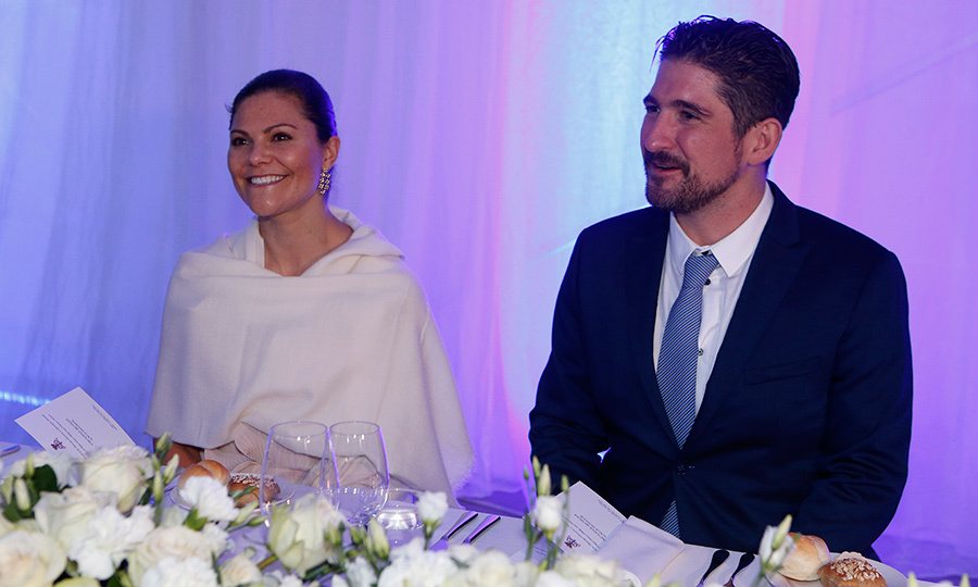 Everyone loves a royal wedding – especially the royals! Sweden's future Queen, Crown Princess Victoria, was one of the guests at Prince Philip of Serbia's nuptials. Here she is seated alongside Prince Aleksandar Karadjordjevic during the reception. 