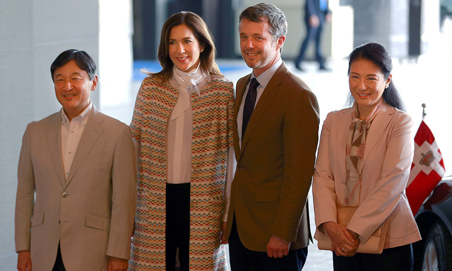Denmark's Crown Prince Frederik and Crown Princess Mary looked all set to kick off their royal visit to Japan, meeting with Crown Prince Naruhito and Princess Masako in Tokyo. Frederik and Mary are heading up a Danish business delegation with the aim of promoting trade between the two countries. 