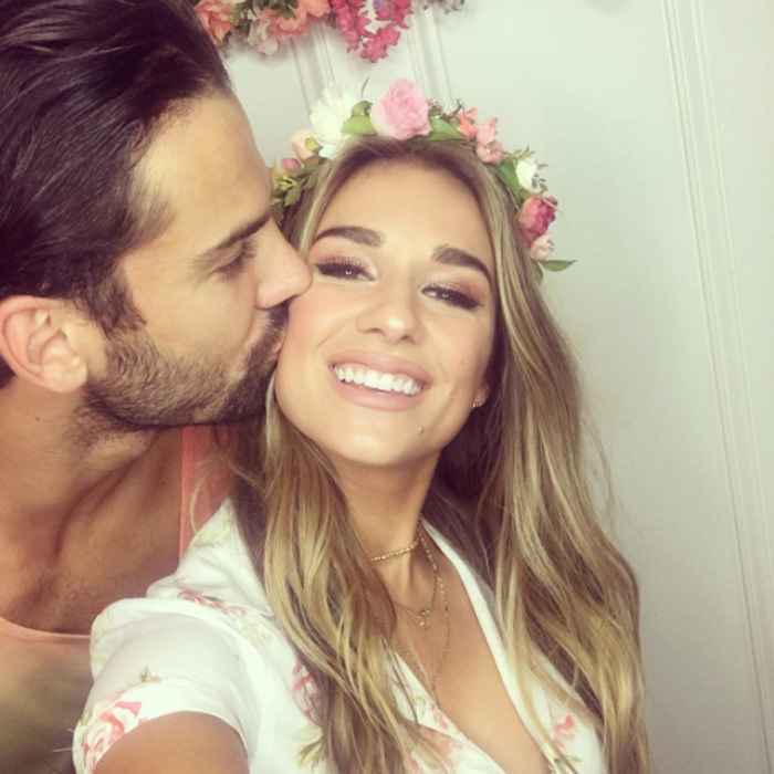 <b>Jessie James Decker and Eric Decker</b>