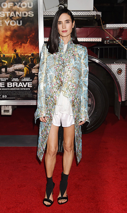 Jennifer Connelly slipped into pieces from Louis Vuitton's 18th-century inspired spring 2018 collection for the premiere of Columbia Pictures' <I>Only The Brave</I> at Regency Village Theatre on October 8, 2017 in Westwood, California. 