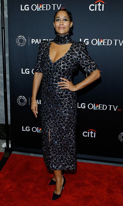 <I>Blackish</I> star Tracee Ellis Ross sparkled in Chanel at the hit show's presentation at PaleyFest NY 2017, held at The Paley Center for Media on October 9 in New York City. 