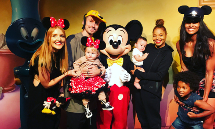 During their October outing, Ciara and Janet Jackson were also joined by James Collins, Holly Cooper and their daughter Mimi. The group of seven couldn't resist posing with Mickey Mouse for one last stop during their day at Disneyland.