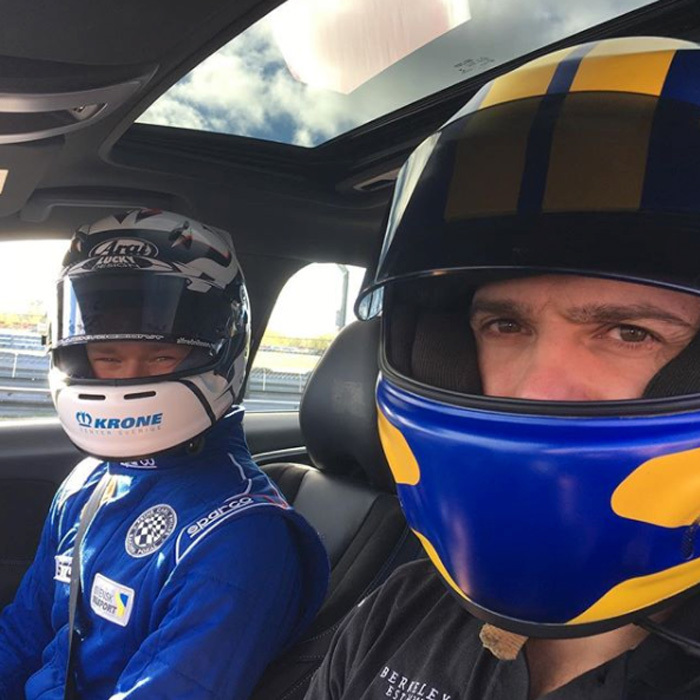 Dad-of-two Prince Carl Philip felt the need for speed during a test day at Gellerasen in Karlskoga. The Prince, who is a fan of racing, hopped in the front seat with the winner of the Prince Carl Philip Racing Cup, Alfred Nilsson.