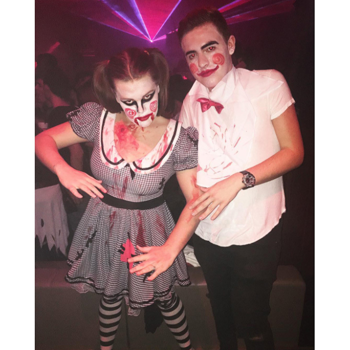 "Princess Stephanie of Monaco's youngest child, Camille Gottlieb, drew inspiration from the horror film <i>Saw</i> for her 2016 Halloween costume. Grace Kelly's granddaughter shared a picture of her creepy Jigsaw-inspired get-up writing, ""Let play a game  #Saw #Halloween2016#ThereIsJustOnRule.""