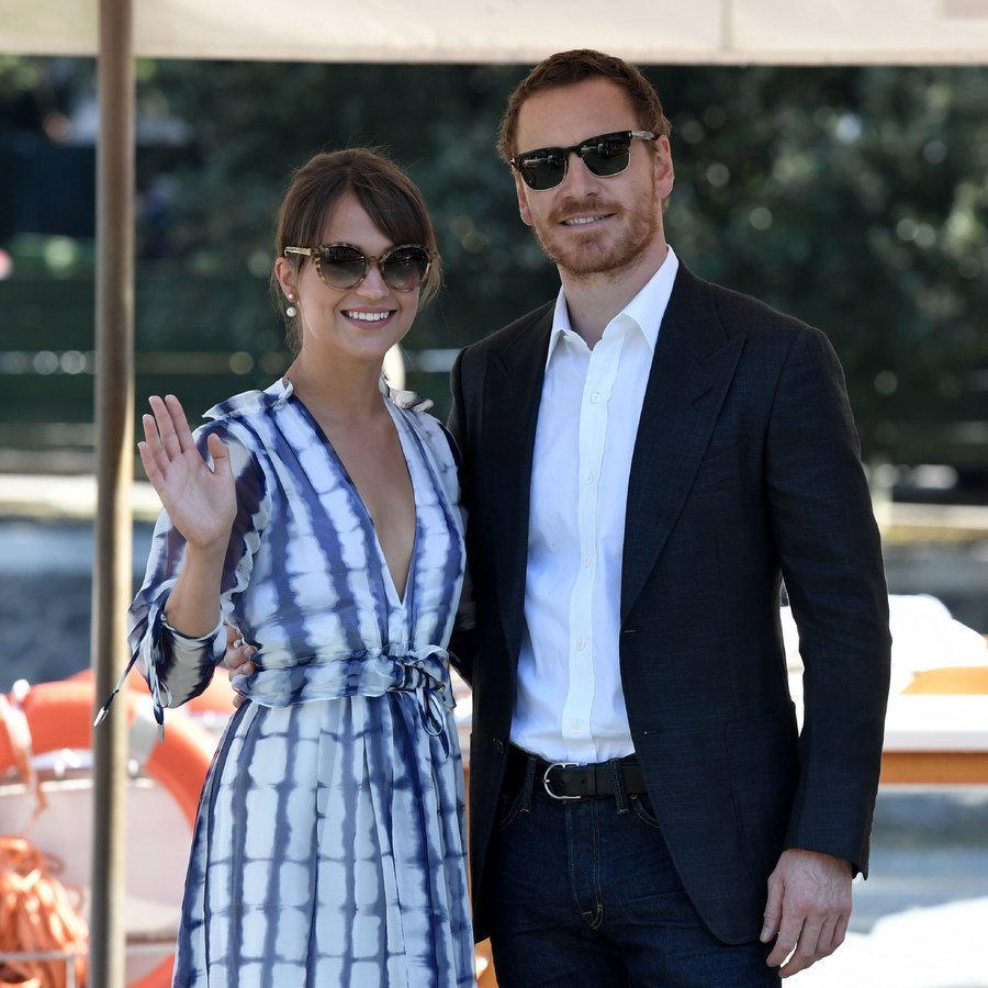 <b>Michael Fassbender and Alicia Vikander</B>