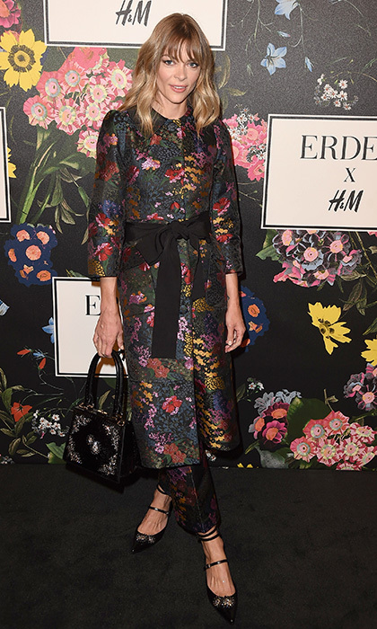 We could definitely see Erdem fan Duchess Kate in this pretty floral coat chosen by Jamie King for the brand's H&M collaboration launch. Matching trousers plus a gem-embellished structured handbag and strappy shoes made for a head-to-toe look from the collection.