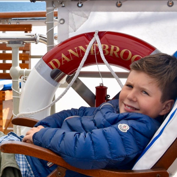 Crown Princess Mary commemorated her son Prince Christian of Denmark's 12th birthday on October 15 by snapping a laid-back photo of the birthday boy lounging on the royal family's yacht, the Dannebrog.
